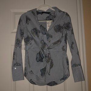 Zara Floral Knotted Top